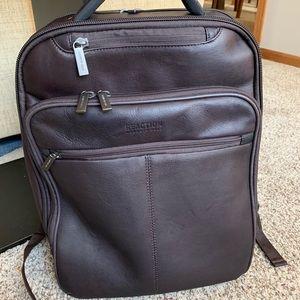 Kenneth Cole authentic leather backpack LIKE NEW
